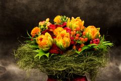 Bouquet, colorful spring flowers Stock Photo