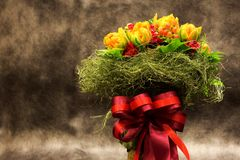 Bouquet, colorful spring flowers Stock Image