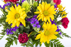 Bouquet of Colorful Spring Flowers Stock Images
