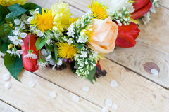 Bouquet of colorful spring flowers Royalty Free Stock Images