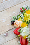 Bouquet of colorful spring flowers Stock Photo