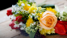 Bouquet of colorful spring flowers Stock Image