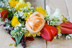 Bouquet of colorful spring flowers Stock Photos