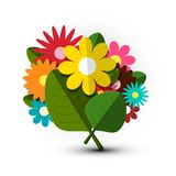 Colorful Vector Bunch of Flowers. Bouquet. Colorful Vector Bunch of Flowers vector illustration