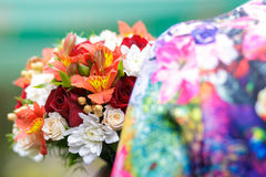 Bouquet of colors of summer Stock Photo