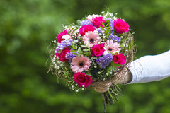 Bouquet of colourful flowers Stock Images