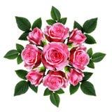 Bouquet commandé des fleurs de rose de rose Photo libre de droits