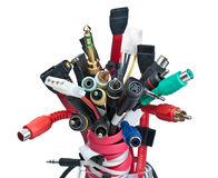 Bouquet of connectors. Various connectors are collected in the bunch Stock Image