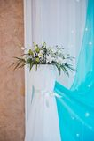 Bouquet on a curbstone 1760. Royalty Free Stock Images