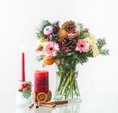 Bouquet décoratif de Noël photographie stock libre de droits