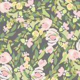 Bouquet d'aquarelle des fleurs Composition florale colorée peinte à la main d'isolement sur le fond blanc illustration stock