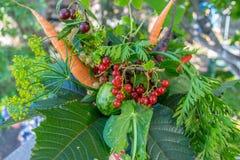 Bouquet d'automne des légumes mûrs images stock