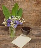 bouquet d'Encore-durée du muguet Images stock