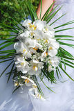 Bouquet d'orchidée de mariage Photographie stock