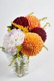 Bouquet of dahlias in vase Royalty Free Stock Photo