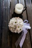Bouquet of daisies. On the table Stock Photos