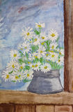 Bouquet of daisies painting Royalty Free Stock Photos