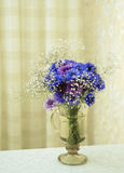 Bouquet of dark blue colors Stock Images