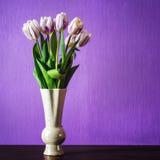 Bouquet de belles fleurs de tulipes Photographie stock