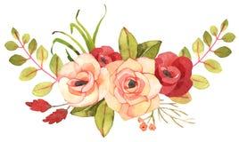 Bouquet de Bohème de fleur avec des roses Photo libre de droits