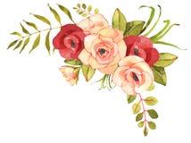 Bouquet de Bohème de fleur avec des roses Image stock