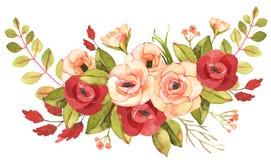Bouquet de bohémien de fleur Composition décorative pour W Photographie stock libre de droits