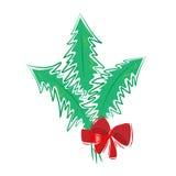Bouquet de cadeau d'arbre de Noël Photo stock