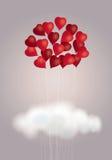 Bouquet de coeurs Images libres de droits