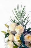 Bouquet de dessin d'aquarelle des fleurs blanches image stock