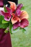 Bouquet de fixation de demoiselle d'honneur Images libres de droits
