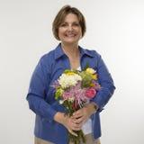 Bouquet de fixation de femme. Images libres de droits