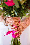 Bouquet de fixation de mariée des fleurs Photos libres de droits