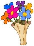 Bouquet de fleur de bande dessinée illustration de vecteur