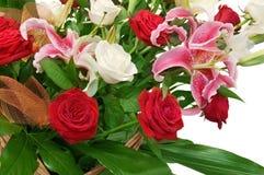 Bouquet de fleur d'isolement en fonction Photo stock