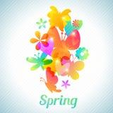 Bouquet de fleur et de papillon mignons, floral Images libres de droits