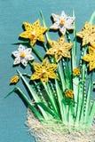 Bouquet de fleur formé par papier Images libres de droits