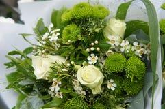 Bouquet de fleur verte et blanche Photos libres de droits