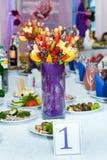 Bouquet de fruit dans le restaurant Photo libre de droits