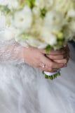 Bouquet de jeunes mariées Photo libre de droits