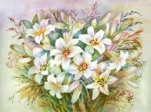 Bouquet de lis Image libre de droits