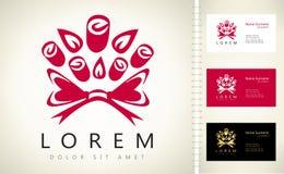 Bouquet de logo de roses Image stock