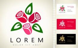 Bouquet de logo de roses Photo stock