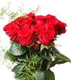 Bouquet de luxe fait de roses rouges dans le bouquet de valentines de fleuriste des roses rouges Photographie stock