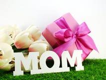 Bouquet de maman et de fleur avec le concept de jour de mères de tissu Photos libres de droits