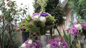 Bouquet de mariage banque de vidéos