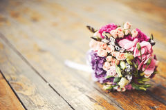Bouquet de mariage au soleil Photos stock