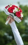 Bouquet de mariage avec des roses Photo stock
