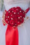 Bouquet de mariage avec des roses Images libres de droits