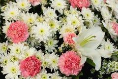 Bouquet de mariage avec le buisson de fleur, comme fond et papier peint Images libres de droits