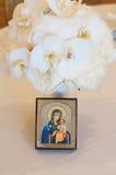 Bouquet de mariage avec Madonna et l'enfant Image libre de droits